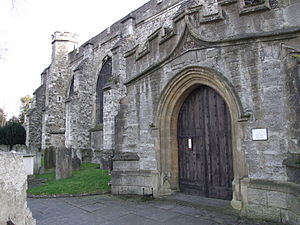 All Saints Church, Maidstone - The north side of the church