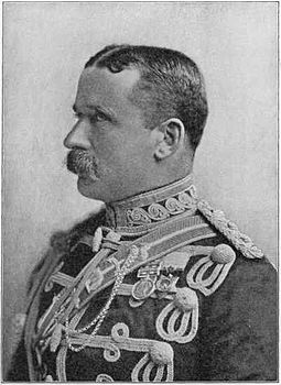 Major-General Sir J.D.P. French, whose cavalry division lifted the siege. Major-General Sir J.D.P. French.jpg