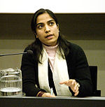Malalai Joya speaking in Finland.jpg