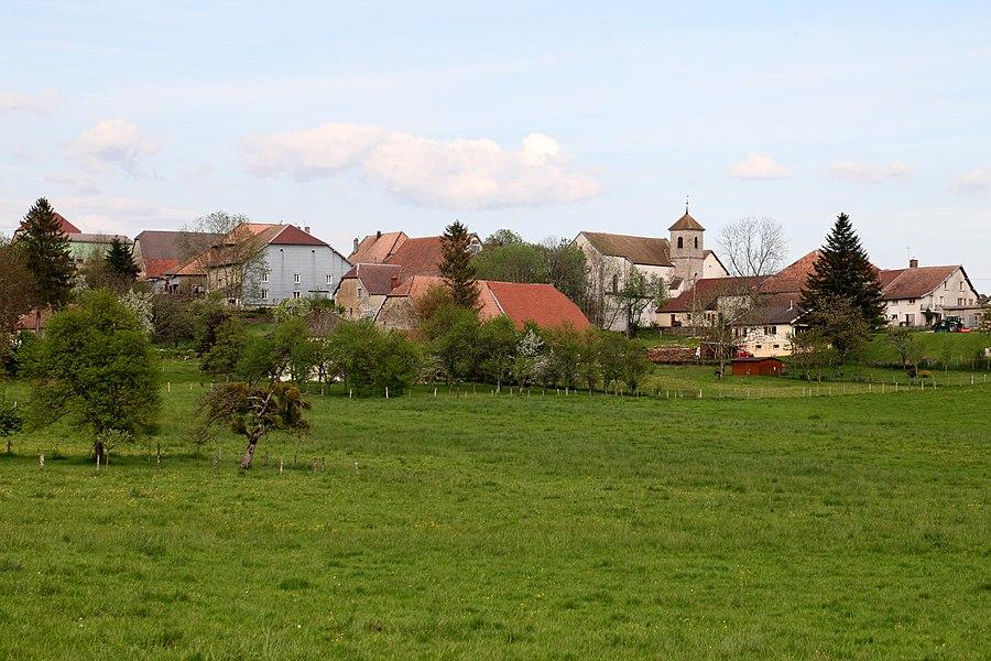 Vue de Malbrans (Doubs).