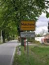 Ortsschild von Malchow