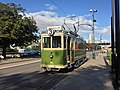 Malmö G tram near museum.jpg