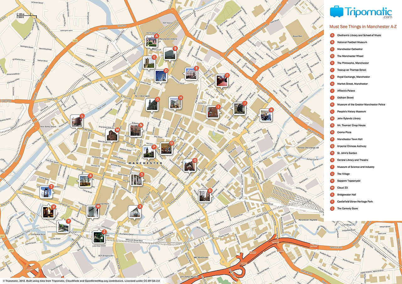 FileManchester printable tourist attractions mapjpg Wikimedia