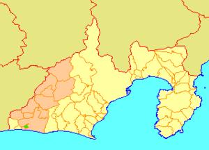 Yūtō, Shizuoka - Image: Map.Yuto.Shizuoka