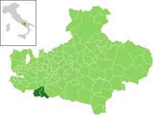 Montoro, Campania - Image: Map IT Avellino Montoro