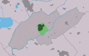 Wolvega, Weststellingwerf - Image: Map NL Weststellingwerf Wolvegea