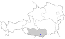 Location of Klagenfurt in Austria