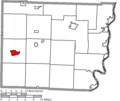 Map of Belmont County Ohio Highlighting Barnesville Village.png