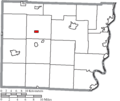 Map of Belmont County Ohio Highlighting Morristown Village.png