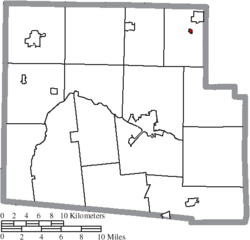 Location of Patterson in Hardin County