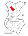 Map of Huntingdon County, Pennsylvania Highlighting Logan Township.PNG