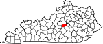 State map highlighting Boyle County