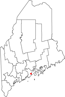 Location of city of Rockland  in state of Maine