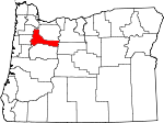 Map of Oregon highlighting Marion County.svg