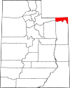 State map highlighting Daggett County