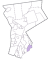 Map of Westchester County, NY, highlighting city of Rye.png