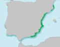 Mapa Aphanius iberus.png