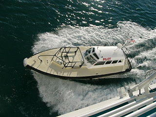 type of boat used to transport pilots between land and the inbound or outbound ships that they are piloting