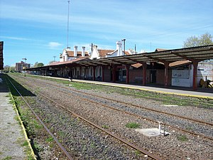 Mar del Plata railway and bus station - Platforms of Norte station, out of service since 2011.