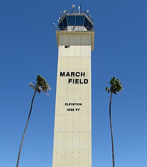 March Air Reserve Base - The control tower at March
