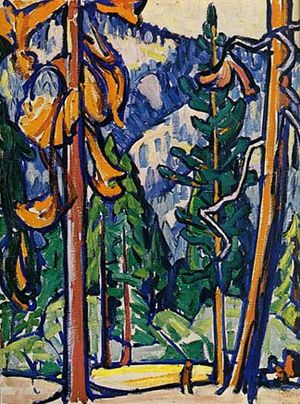 Marguerite Zorach - Man among the redwoods, 1912