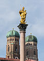 Mariensäule Towers Frauenkirche Munich.jpg
