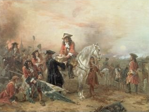 Robert Alexander Hillingford - The Duke of Marlborough Signing the Despatch at Blenheim