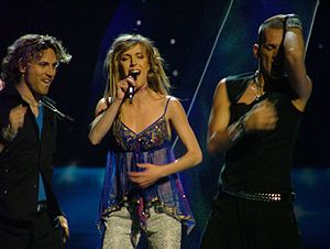 Marta Roure - Marta Roure performing at the Eurovision Song Contest 2004.