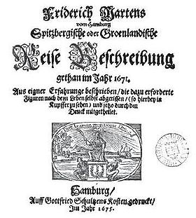 Cover of Martens' book, 1675