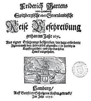 Friderich Martens - Cover of Martens' book, 1675
