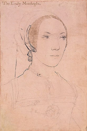 Mary Brandon, Baroness Monteagle - Portrait of Mary Brandon, Baroness Monteagle, drawn by Hans Holbein the Younger