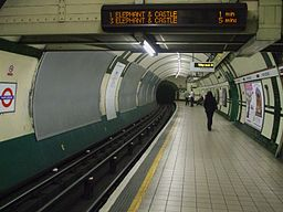Marylebone tube stn southbound look north
