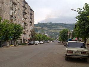 Berd - Image: Mashtots avenue in Berd city 3