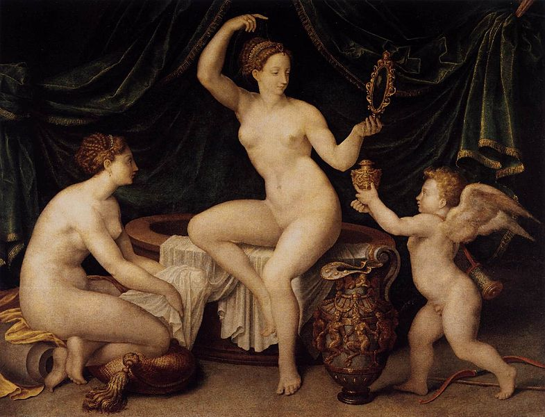 File:Master Of The Fontainebleau School - Venus at Her Toilet - WGA14548.jpg