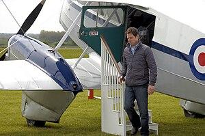 Matt Baker (presenter) - Matt Baker filming Countryfile at Cotswold Airport in Gloucestershire