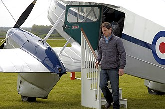 Cotswold Airport - A Countryfile segment being filmed with Matt Baker at Cotswold Airport