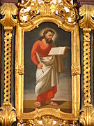 Matthew the Evangelist with a quill and his gospel