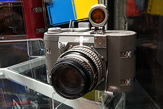 Auricon - Maurer 70mm Gemini Camera at Steven F. Udvar-Hazy Center Virginia USA.