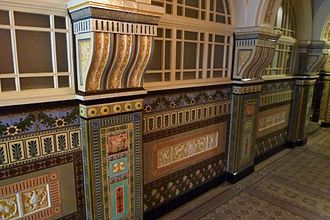 Old Library, Cardiff - The Tiled Corridor