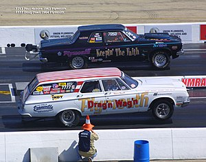 Nostalgia Super Stock - Pair of NSS Cars compete at the Monster Mopar Weekend
