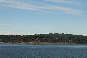 Mayne Island - A view of Mayne Island from the ferry