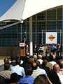 Mayor Hickenlooper at RTD East Corridor groundbreaking (4930452854).jpg