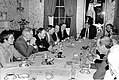Mayor Raymond L. Flynn with unidentified group at dinner table in Parkman House (9516905189).jpg