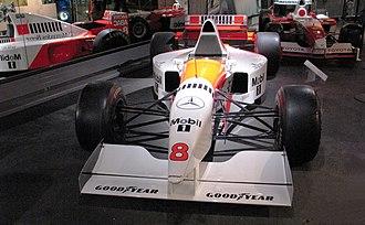 McLaren MP4/10 - Image: Mc Laren MP4 10 Hakkinen Nurburgring Motorsport Museum