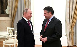 Sigmar Gabriel - Gabriel with Russian President Vladimir Putin, 9 March 2017