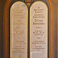 Memorial plaques of Princesses Olga and Tatiana, daughters of Tsar Nicholas II, Peter and Paul Cathedral (36371799543).jpg