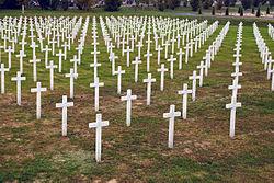 A vukovári népirtás (1991) áldozatainak temetője Európa legnagyobb tömegsírja a II. világháború óta