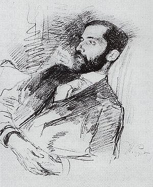 Dmitry Merezhkovsky - Merezhkovsky in 1890s. Portrait by Ilya Repin