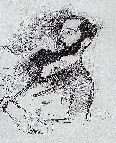 Д.С.Мережковский. Портрет работы И. Репина (Около 1900)