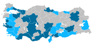 Metropolitan municipalities in Turkey - Image: Metropalitan municipalities of Turkey 2